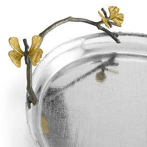 175762 Butterfly Ginkgo Oval Tray Closeu