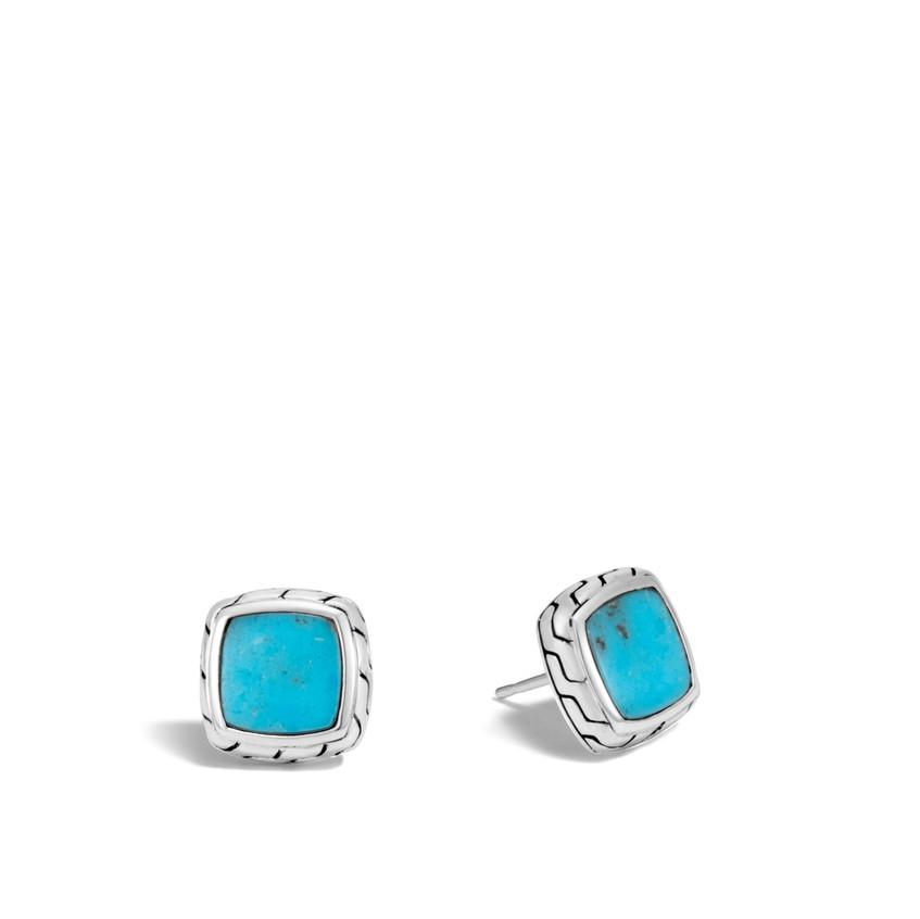 John Hardy turquoise stud earrings