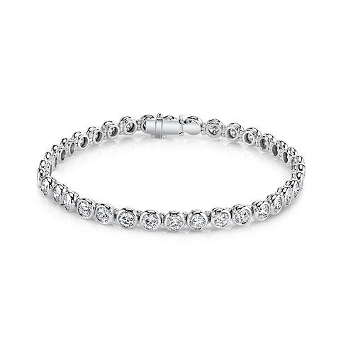 Bezel-set Diamond Bracelet