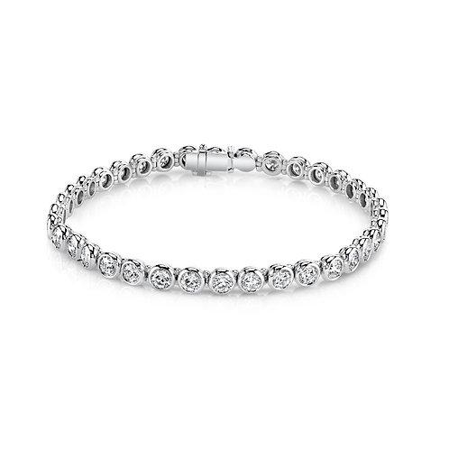 Bezel-set Diamond Bracelet