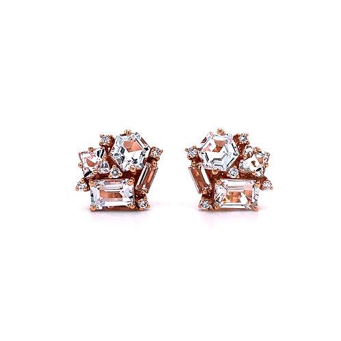 Suzanne Kalan Pink Topaz Earrings
