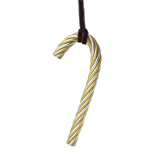 Michael Aram Twist Candy Cane Gold and Silver Ornament