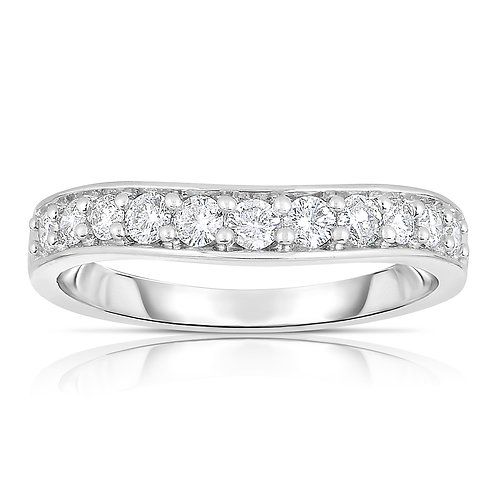 Curved Diamond Band Ring