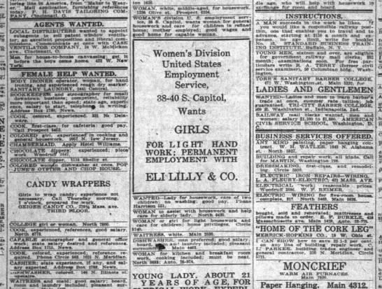 The Indianapolis News, 1 January 1919, p. 16.