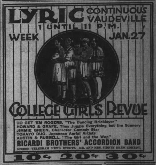 The Indianapolis News, 25 January 1919, p. 8.