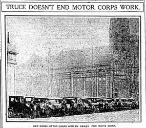 Truce Doesn't End Motor Corps Work