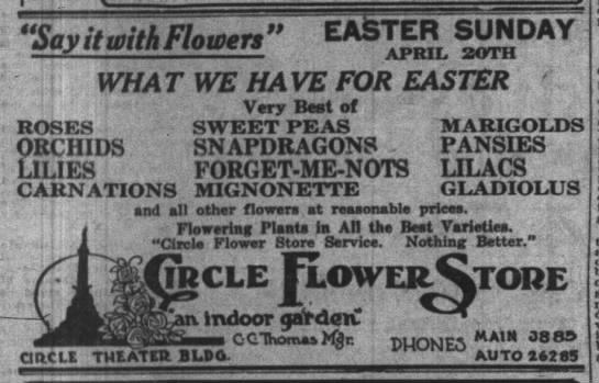 The Indianapolis News, 17 April 1919, p. 7.