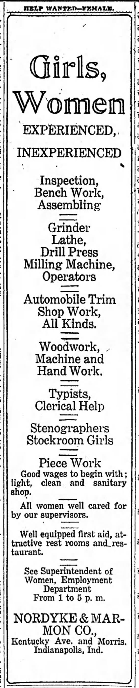 The Indianapolis Star, 24 October 1919, p. 21.