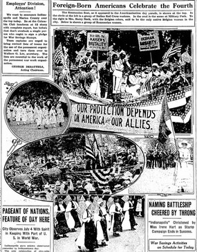 Pageant of Nations, Feature of Day Here