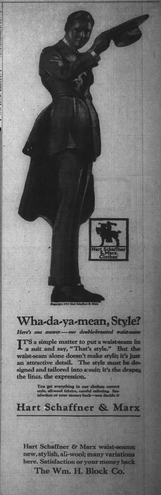 The Indianapolis News, 22 April 1919, p. 5.