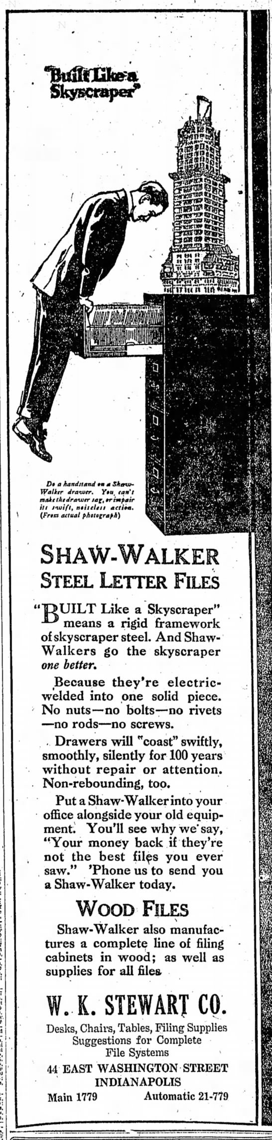 The Indianapolis Star, 30 September 1919, p. 14.
