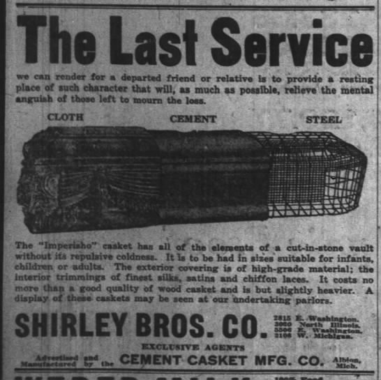 The Indianapolis News, 15 February 1919, p. 4.