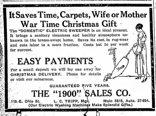 The Indianapolis Star, Wednesday, 12 December 1917, p. 8.