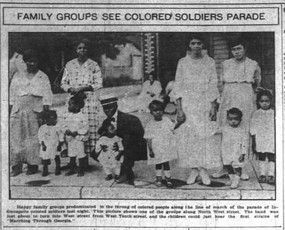 Tribute Paid to Colored Soldiers