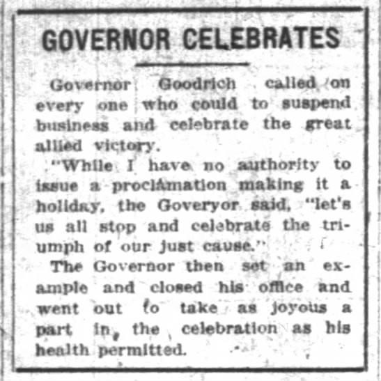 The Indianapolis News, 11 November 1918, p. 1