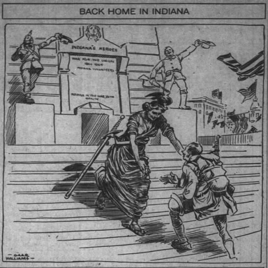 The Indianapolis News, 10 January 1919, p. 1.