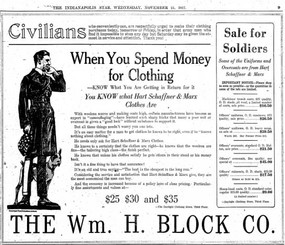 Wartime Ad for Block's