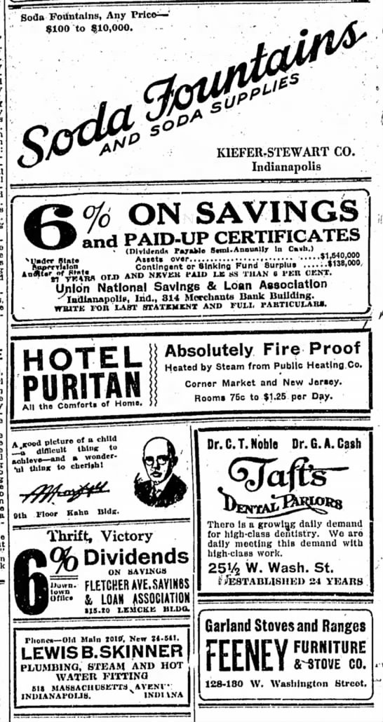 The Indianapolis Star, 20 February 1919, p. 18.