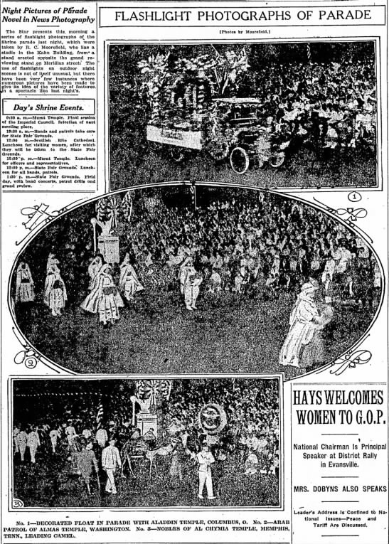 The Indianapolis Star, 12 June 1919, p. 1.