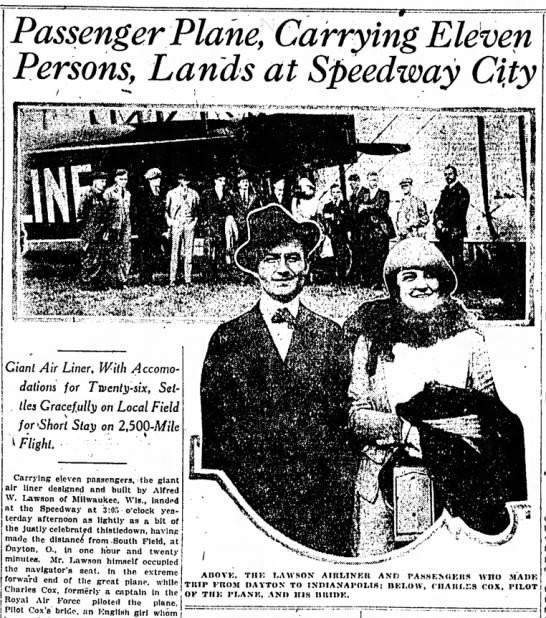 The Indianapolis Star, 25 October 1919, p. 1.