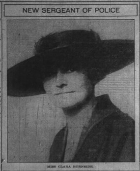Miss Burnside Made Head of Women Police