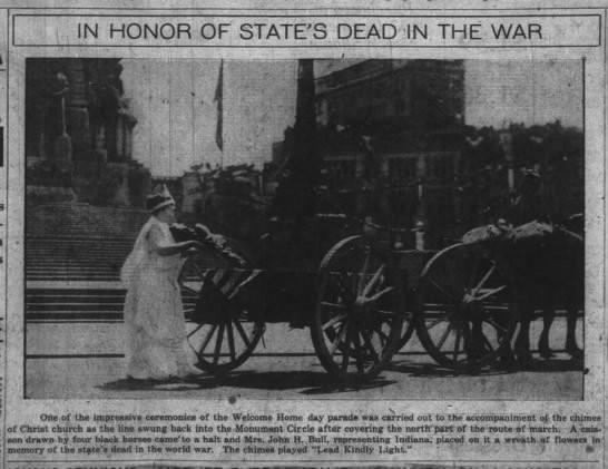 The Indianapolis News, 7 May 1919, p. 1.