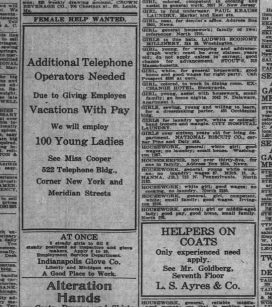 The Indianapolis News, 5 April 1919, p. 23.