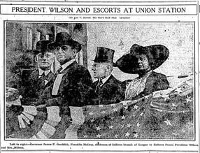 Wilson Hurls Defi to Foes of Covenant