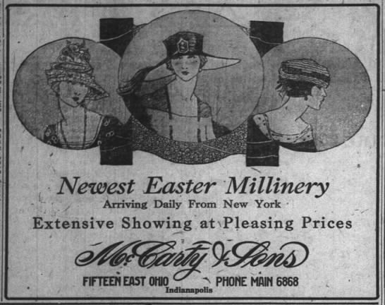 The Indianapolis News, 17 April 1919, p. 9.