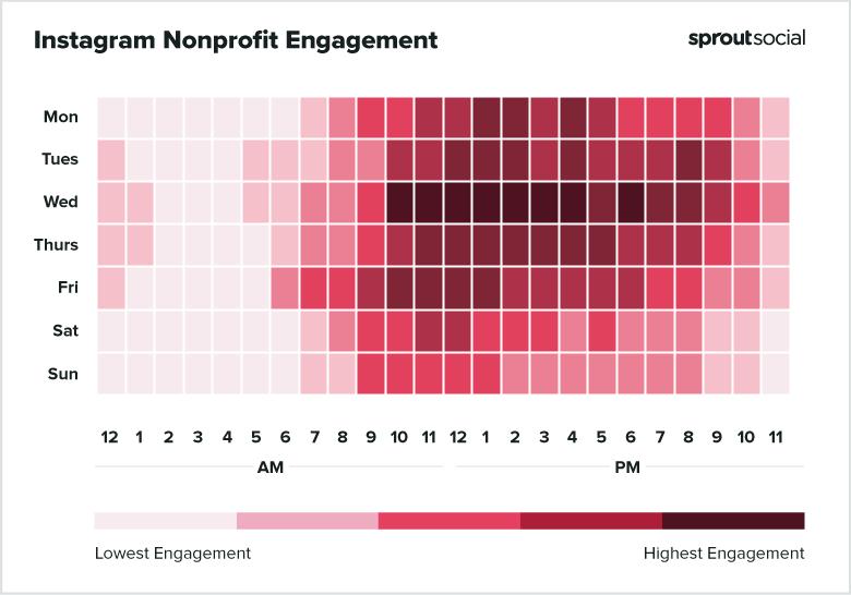 Melhor dia e horário para Instagram: organização sem fins lucrativos
