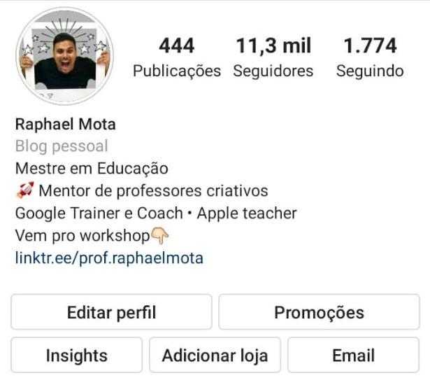 Perfil do Instagram - Insights