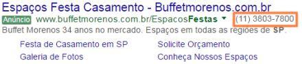 Extensão de Chamada - Google Ads
