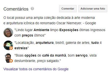 Informações Google Meu Negócio