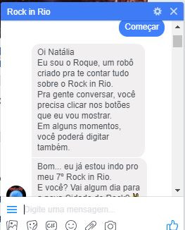 Chatbot Rock in Rio