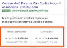 Extensão de Preço - Google Ads