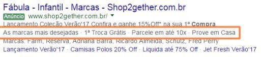 Extensão de Frase de Destaque - Google Ads