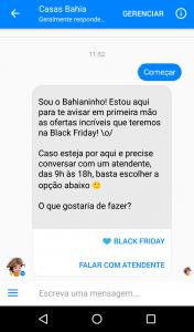 Chatbot Casas Bahia