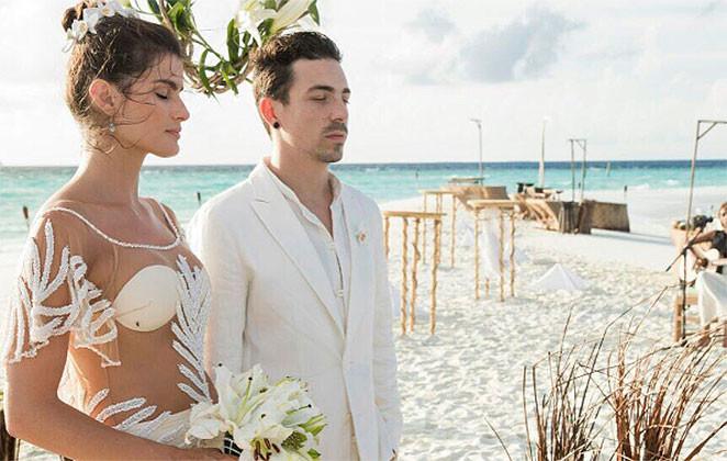 Isabeli Fontana e Di Ferrero casamento Maldivas