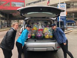Easter Basket Drop Off at Tufts