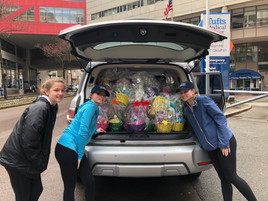 Easter Basket Drop Off at Tufts