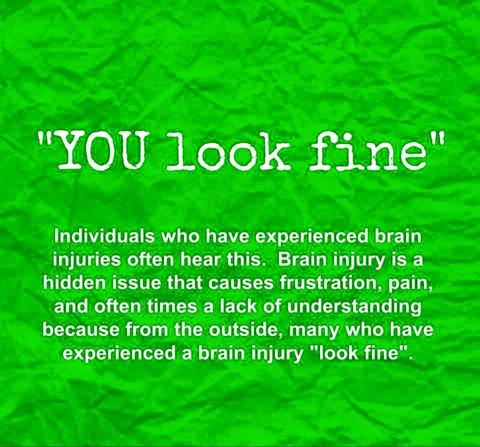 But, you look fine....