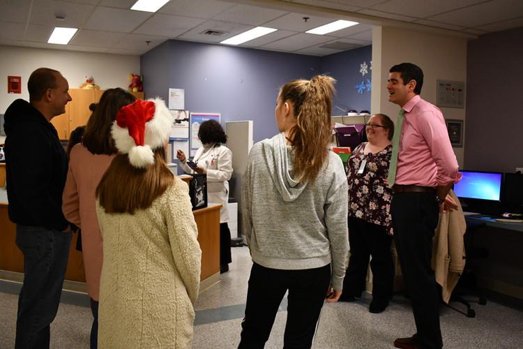 Dr. John Gaitanis, Chief of Pediatric Neurology expressing his thanks