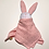 Thumbnail: Doudou lapin lange rose à pois doré