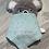 Thumbnail: Doudou koala personnalisé lange mint pois or