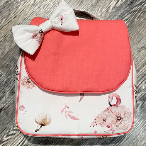 Sac à dos personnalisé flamand rose et corail
