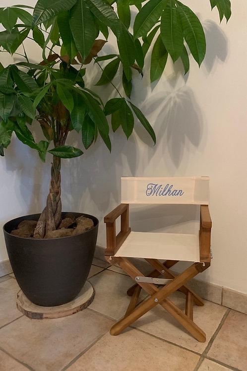 Chaise metteur en scène personnalisé