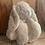 Thumbnail: Doudou lapin et son petit plaid a personnalisé