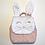 Thumbnail: Sac à dos personnalisé lapin et liberty capel nude