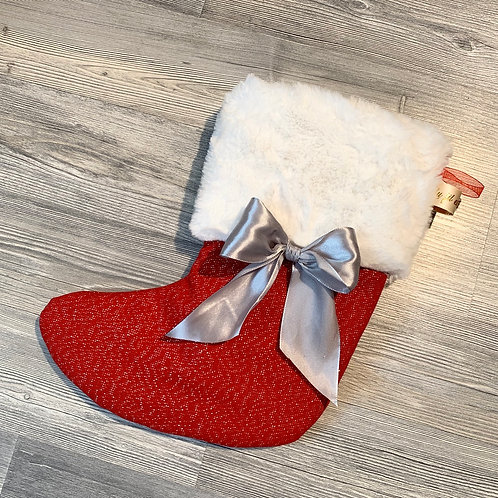 Chaussette rouge paillettes à personnalisée