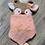 Thumbnail: Doudou bichette lange rose pois or